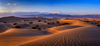 Mesquite Dunes Sunset, Pano, Death Valley